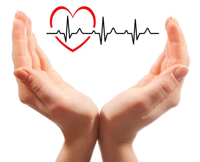 Pflegedienst Grafik mit Herz
