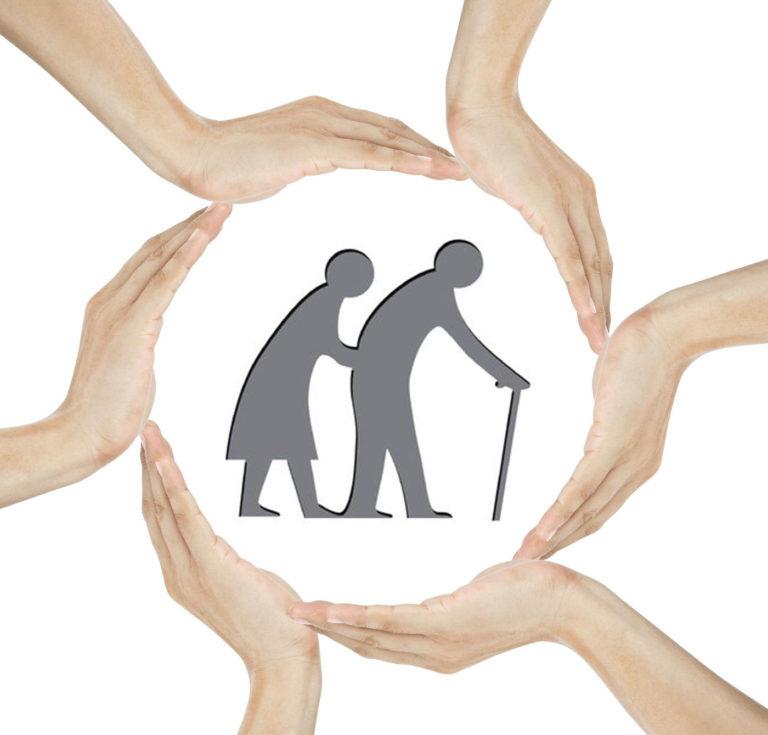 Senioren werden von Pflegeteam beschützt